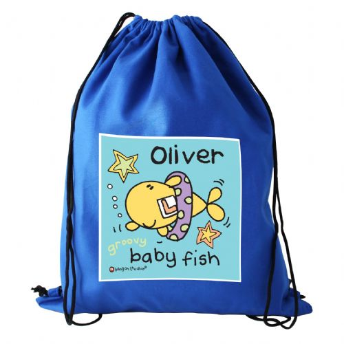 Personalised Bang On The Door Baby Fish Boys Swim bag